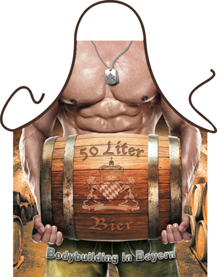 Itati Funny Apron Cooking BBQ Bavarian Specialties Frankenmuth_Apron_Bodybuilding in Bayern