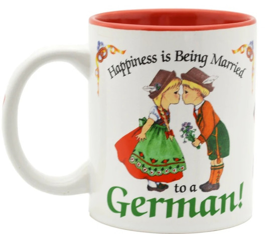 Happiness is Being Married to a German Coffee Mug