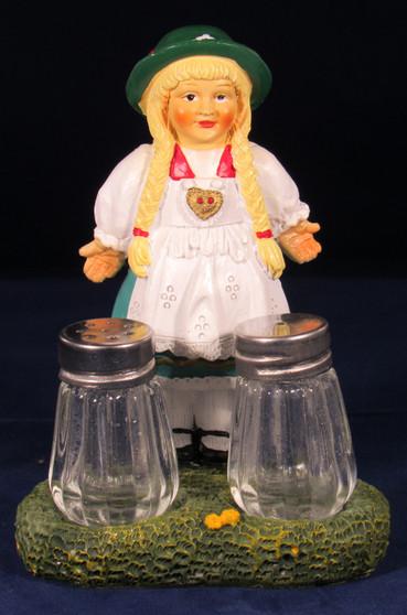 Salt and Pepper Shaker Dirndl Girl Souvenir Bavarian Specialites