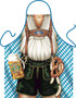 Itati Funny Bavarian German Cooking BBQ Apron -  Oktoberfest Man
