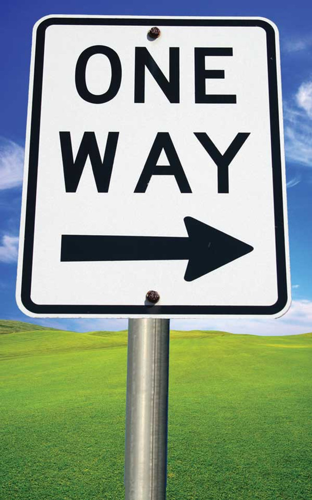 One Way Bright Sign-Illustrated