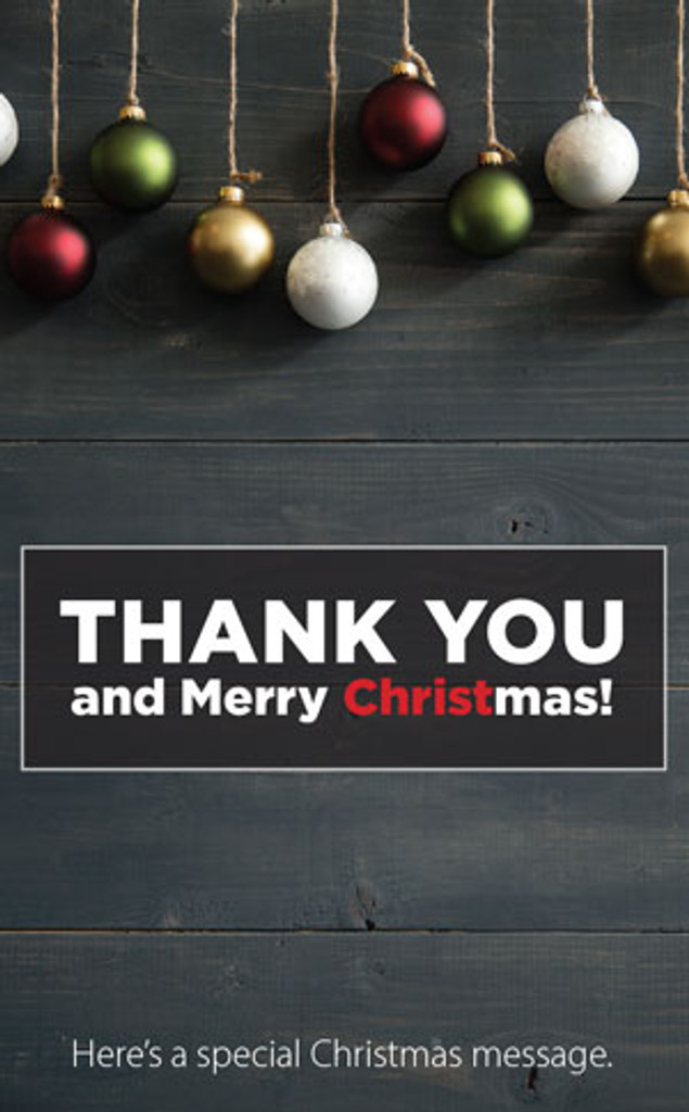 Thank You and Merry Christmas
