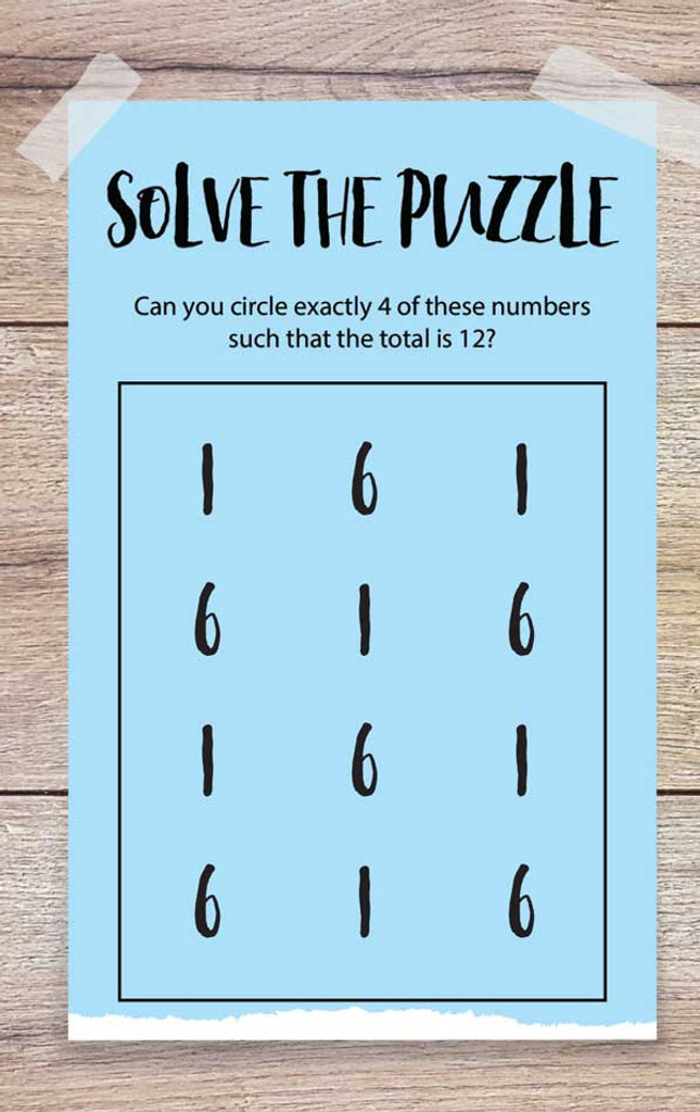 Solve the Puzzle-1