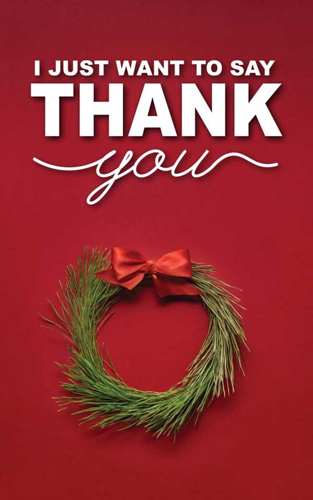 Thank You Christmas Wreath