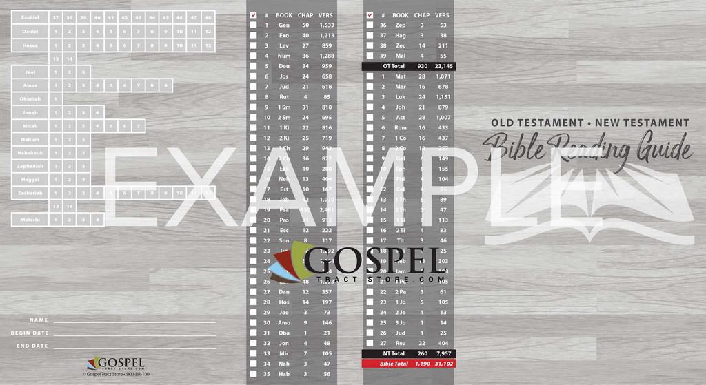 Old Testament & New Testament Reading Guide-Checklist