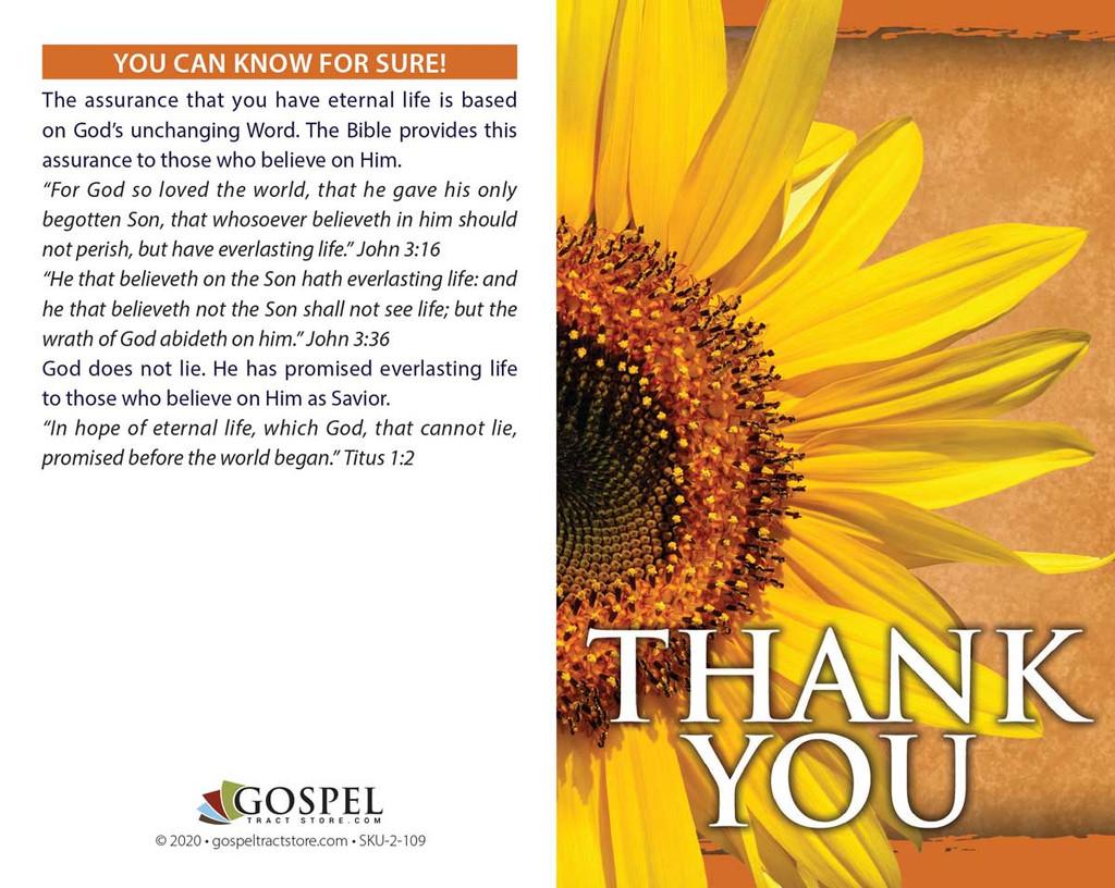 Thank You-Original Sunflower
