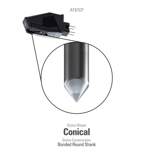 Audio Technica AT81CP Conical cartridge for P-mount turntables