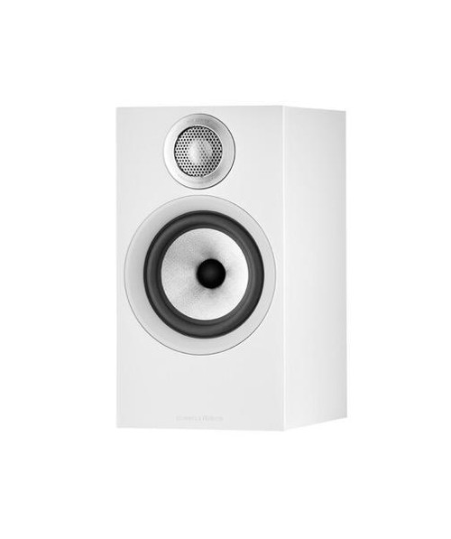 B&W 606 S2 Anniversary Edition Bookshelf Speaker (Pair) - Matte White