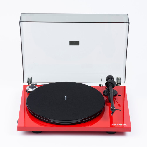 Project Essential III Turntable with Ortofon OM10 Cartridge - Red