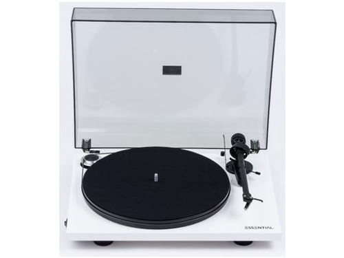 Project Essential III Turntable with Ortofon OM10 Cartridge - White