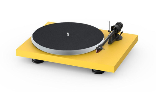 Project Audio Debut Carbon EVO Acryl Turntable - Satin Golden Yellow