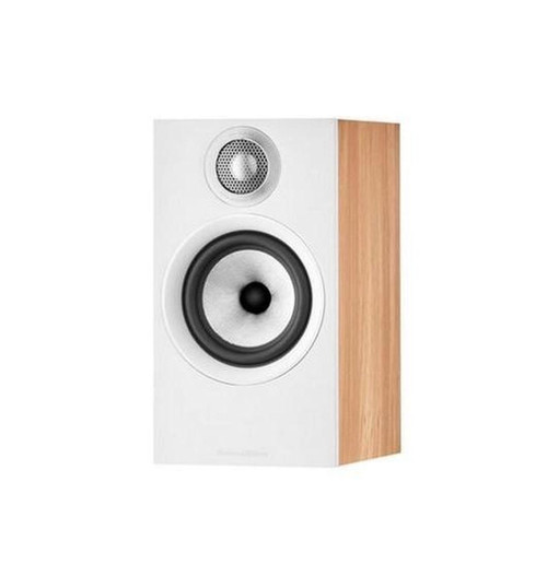 NEW B&W 607 S2 Anniversary Edition Bookshelf Speaker (Pair) - Oak