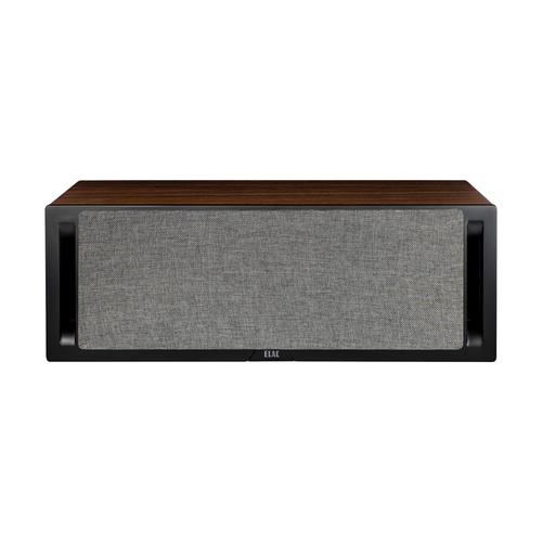 Elac DCR52 Centre Channel Speaker Black Baffle Walnut Cabinet