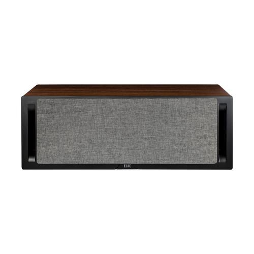 Elac DCR52 Centre Channel Speaker Black Baffle Walnut Cabinet