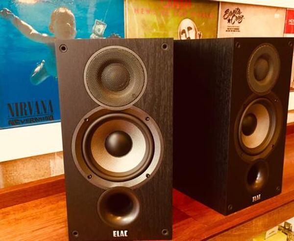 Elac Debut 5.2 Bookshelf Speakers designed by world famous speaker designer Andrew Jones