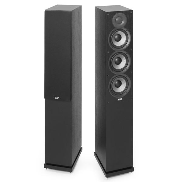Elac F5.2 Floorstanding Speakers - Black Ash Vinyl