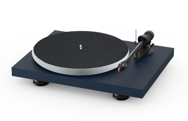 Project Audio Debut Carbon EVO Acryl Turntable - Satin Blue Steel