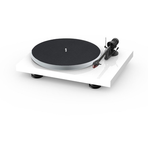 Project Audio Debut Carbon EVO Acryl Turntable - High Gloss White