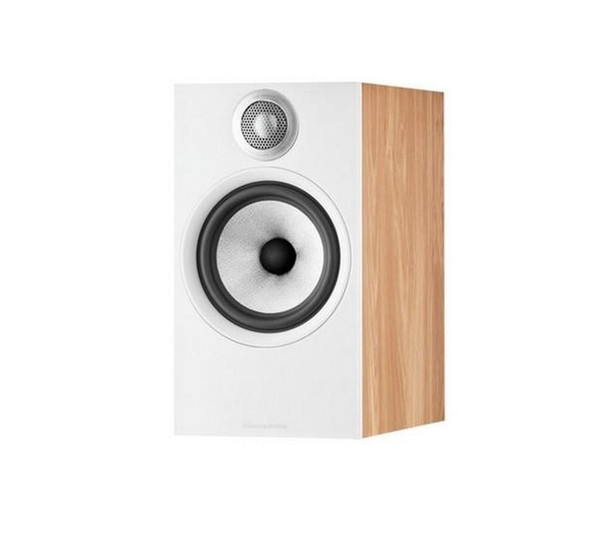 B&W 606 S2 Anniversary Edition Bookshelf Speaker (Pair) - Oak