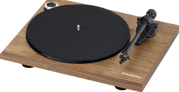 Project Essential III Phono Turntable - Walnut