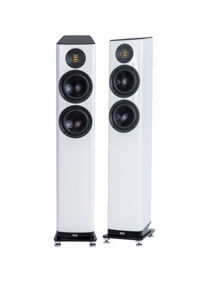 Elac Vela FS 407 Floorstanding Speakers - Gloss White