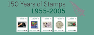 150 Years of New Zealand Stamps 1955 - 2005
