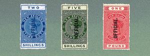 Queen Victoria Postal Fiscals Officials