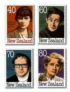 New Zealand Authors Stamp Issue