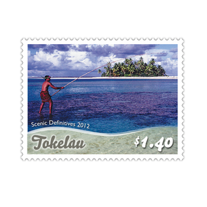 Tokelau Scenic Definitives 2012 $1.40 Stamp