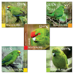 2020 Kakariki - New Zealand Parakeets Set of Used Stamps