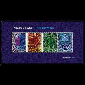 2020 Nga Hau e Wha - The Four Winds Used Miniature Sheet