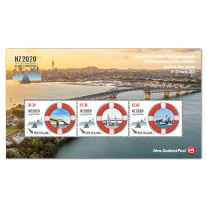 NZ2020 International Stamp Exhibition Maritime Cancelled Miniature Sheet