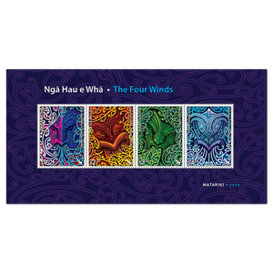 2020 Nga Hau e Wha - The Four Winds Cancelled Miniature Sheet