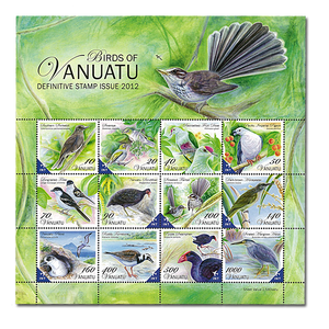Birds of Vanuatu Definitive Souvenir Sheet