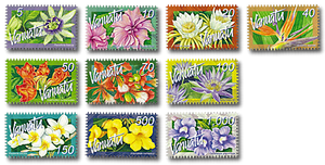 2006 Vanuatu Tropical Flowers Domestic Definitive Set of Stamps