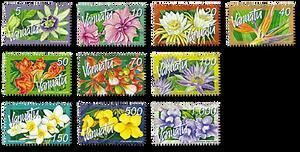 2006 Vanuatu Tropical Flowers Domestic Definitive Set of Stamps