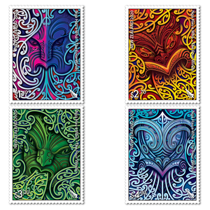 2020 Nga Hau e Wha - The Four Winds Set of Mint Stamps