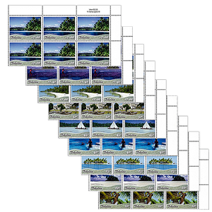 Tokelau Scenic Definitives 2012 Set of Value Blocks