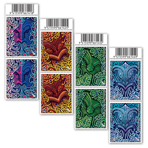 2020 Nga Hau e Wha - The Four Winds Set of Barcode B Blocks
