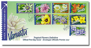 2006 Vanuatu Tropical Flowers International Definitive First Day Cover