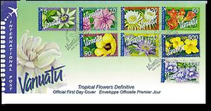 2006 Vanuatu Tropical Flowers International Definitive First Day Cover