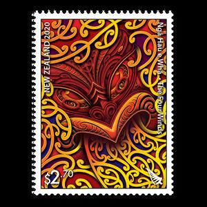 2020 Nga Hau e Wha - The Four Winds $2.70 Stamp