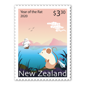 2020 Year of the Rat $3.30 Stamp