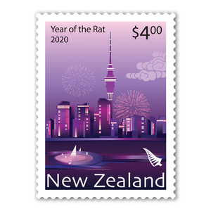 2020 Year of the Rat $4.00 Stamp