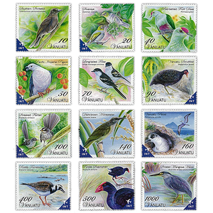 Birds of Vanuatu Definitive Set of Stamps