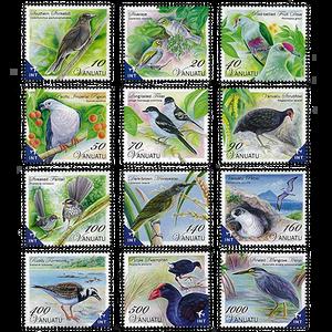Birds of Vanuatu Definitive Set of Stamps