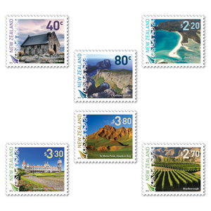 2016 Scenic Definitives Set of Cancelled Stamps