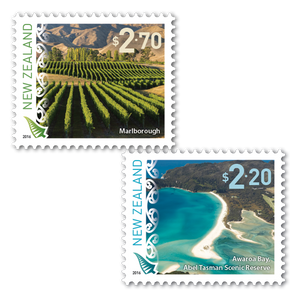 2016 Scenic Definitives Set of Used Self Adhesive Stamps