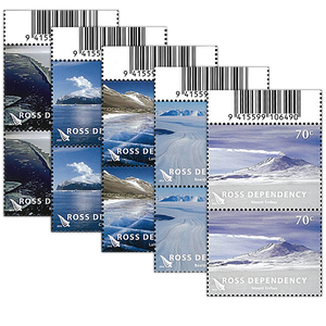 2012 Ross Dependency Definitives Set of Barcode B Blocks