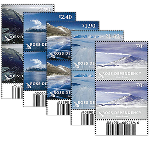 2012 Ross Dependency Definitives Set of Barcode A Blocks
